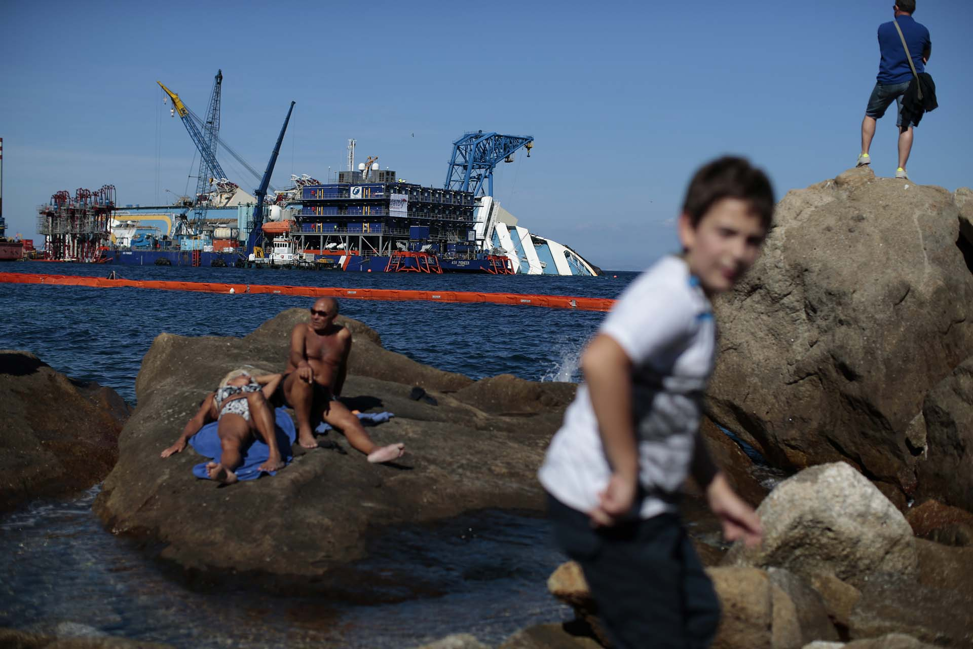 Giglio Island, September 14, 2013 REUTERS/Tony Gentile (ITALY)