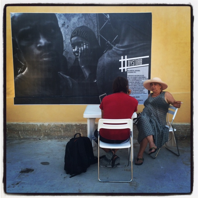 One by one with, photographer and teacher, Lina Pallotta during Portfolio Review